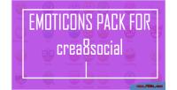 Pack emoticons for crea8social