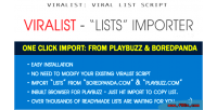 Playbuzz & boredpanda list viralist for importer