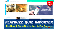 Playbuzz quiz importer for pro script socioquiz