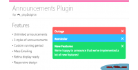 Plugin announcements for phpdolphin