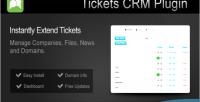 Plugin tickets crm