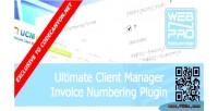 Plugin ucm invoice numbering