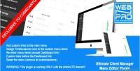 Plugin ucm menu editor