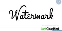 Plugin watermark for laraclassified