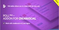 Poll addon ver 1 crea8social for 0