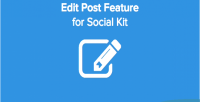 Post edit socialkit for feature