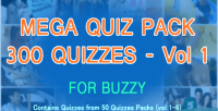 Quizzes 300 mega pack for buzzy 1 vol introductory price off 50