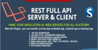 Restfull laravel server client api