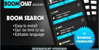 Search addon for boomchat chat ajax php search