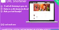 Shortener url crea8social for addon