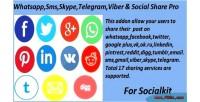 Sms skype telegram viber social share socialkit for pro sms