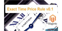 Time exact price extension magento rule