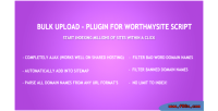 Upload bulk plugin script worthmysite for
