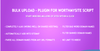 Upload bulk plugin script worthmysite for