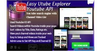 Utube easy explorer youtube based api search & channel