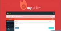 Admin myigniter crud generator page and