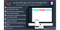 Advanced laraguard login user & system management