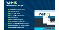 Advanced whmcs menu manager