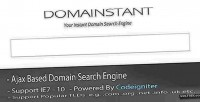 Codeigniter ajax instant domain engine search name