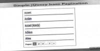 Ajax simple based pagination