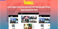 Auto osru news post & php manual newspaper script post facebook auto