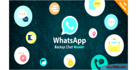 Backup whatsapp chat reader