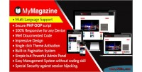 Bootstrap mymagazine newspaper & magazine script cms blog