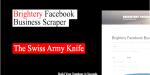 Brightery facebook business scraper module accounts user