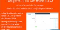 C r u d ajax modals with c