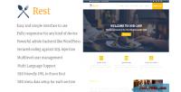 Cafe rest & cms website restaurant