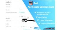 Add gcal event calendar google