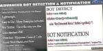 Bot advanced detection notification