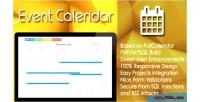 Calendar event plugin mysql php