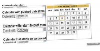 Date calendar field date picker