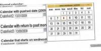 Date calendar field date picker