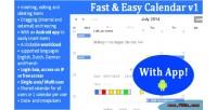 Easy fast app with calendar
