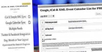 Ical xml event list php for calendar ical