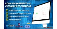 Management room with calendar price custom
