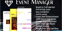 Manager event php panel admin script