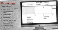Php eventer jquery calendar events interactive