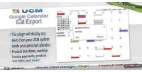 Ucm plugin calendar ical export calendar google