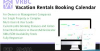 Rentals vacation booking calendar