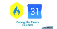 Resonsive codeigniter events calendar