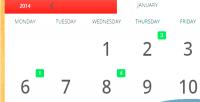 Responsive ecalendar events calendar
