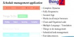 Schedule thingz management application