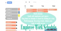 Work employee schedule