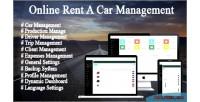 Car online rental system management trip