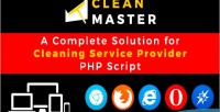 Clean master cleaning domestic script php service