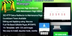 Web under construction manager maintenance page redirector & builder