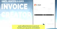 Creator invoice